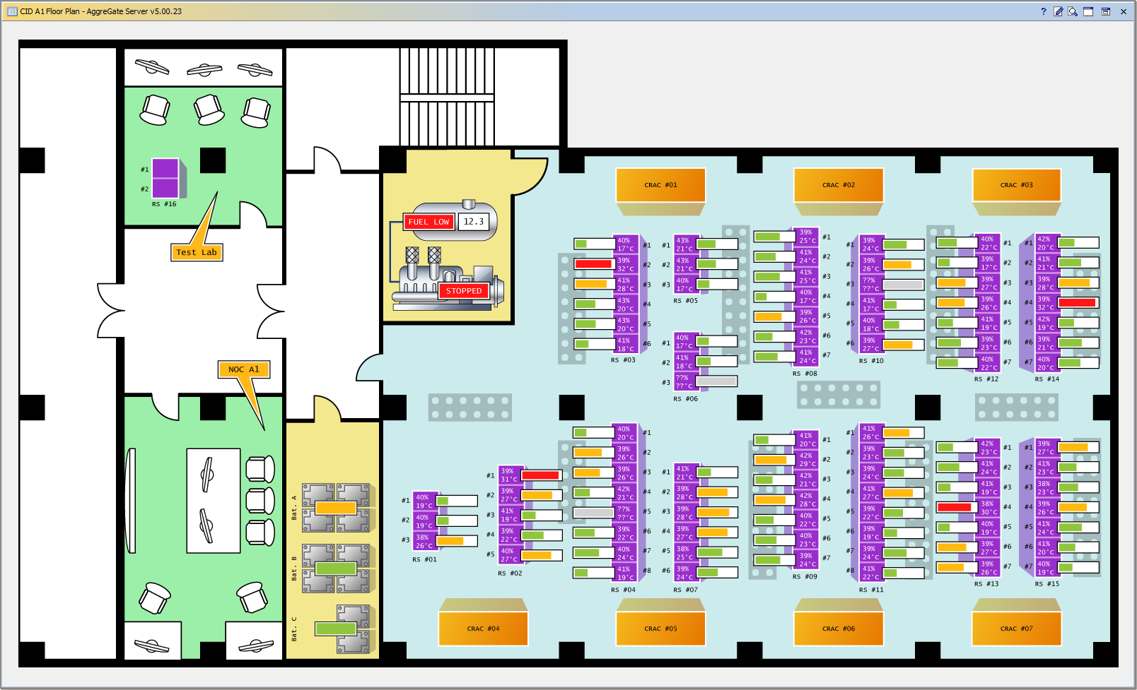 Visio landscape template related keywords visio for Data center floor plan