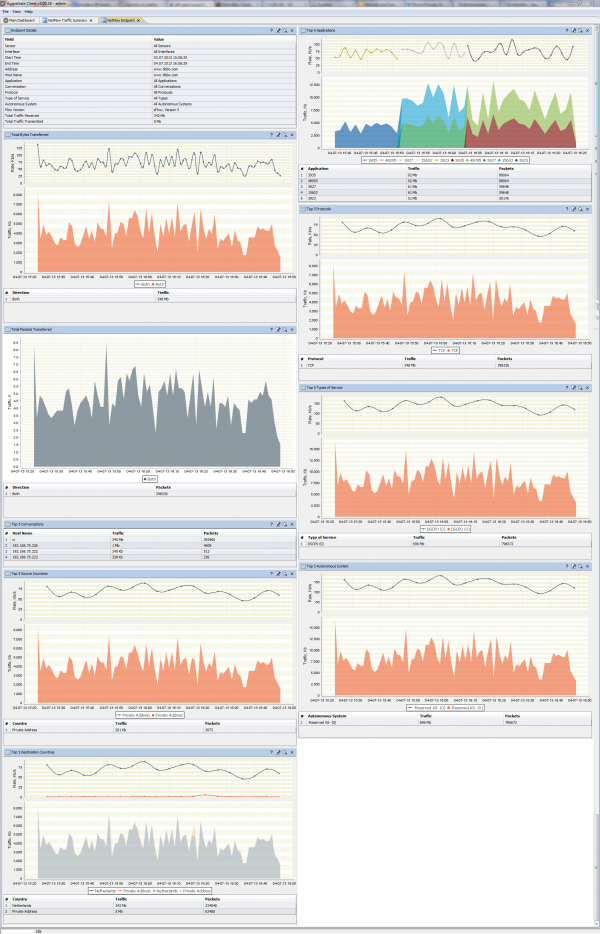NetFlow Endpoint Dashboard