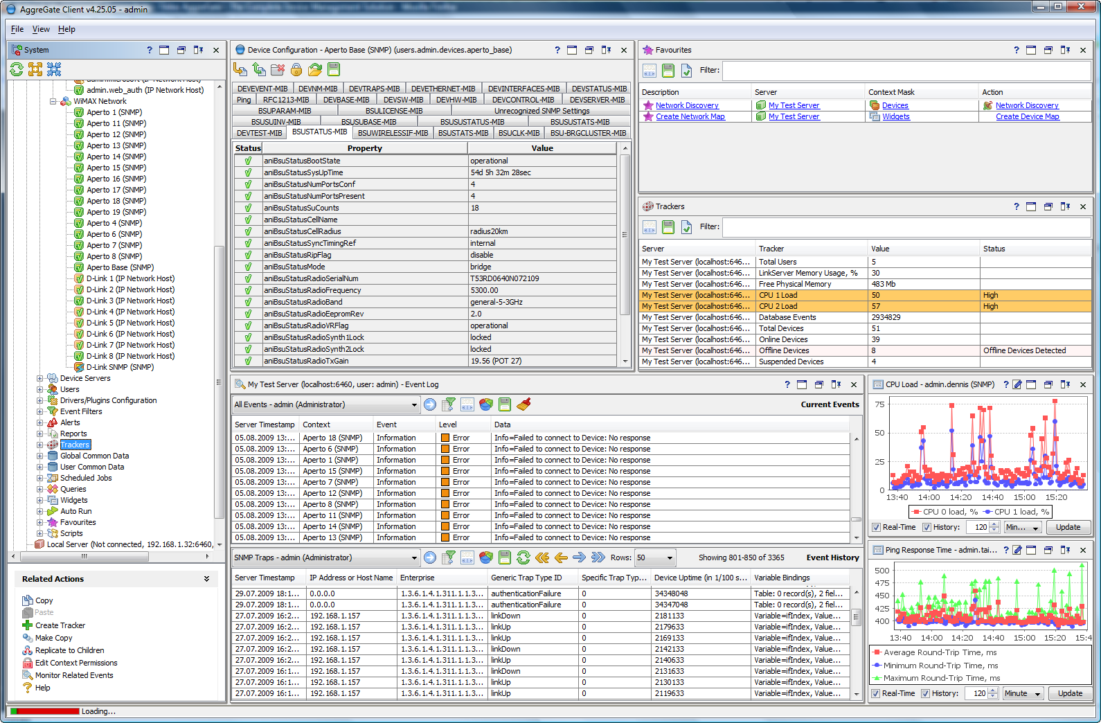 AggreGate Network Manager Screen shot
